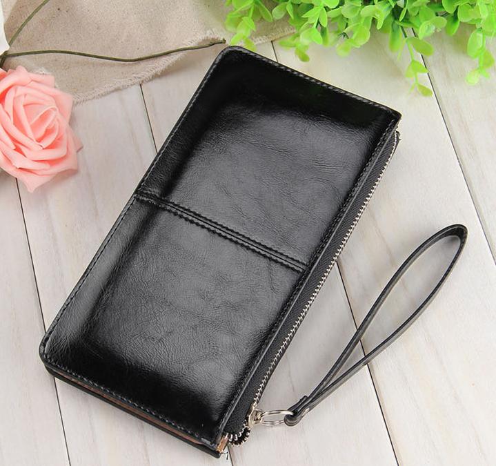 Багатофункціональний гаманець чорний клатч код 199