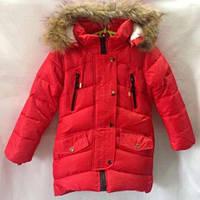 Зимняя куртка парка на девочку 6-9 лет  116-140 розница, фото 1