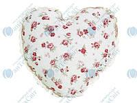 Подушка декоративная с кружевом ПРОВАНС Сердце Red rose