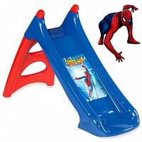 Детская Горка с водным эффектом SpiderMan XS Smoby