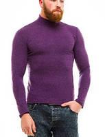 Гольф (водолазка) мужской, кашемир, фиолетовый
