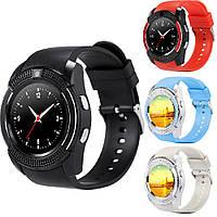 Смарт часы Smart Watch V8 black silver blue pink