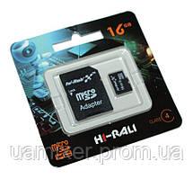 Карта памяти microSDHC, 16Gb, Class10, Hi-Rali, SD адаптер (HI-16GBSDCL10-01)