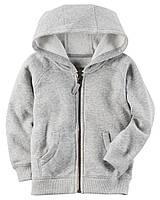 Толстовка на флисе Carters на мальчика 4-8 лет Brushed Fleece Zip-Up Hoodie