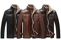 Дубленка,куртка зимняя, с натуральной кожи на овчине.