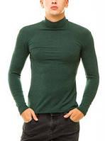 Гольф (водолазка) мужской, кашемир, зеленый