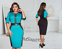 Платье большого размера 48-52 52, Электрик