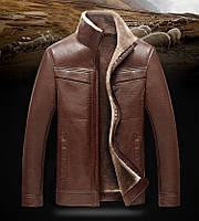 Куртка зимняя с натуральной кожи на овчине,дубленка  молодежная.
