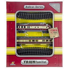 Детская железная дорога на батарейках Fenfa длина путей 103,5 см (арт. 1601B-5B)