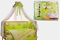 Комплект детского постельного белья Bepino Мишки салатовое