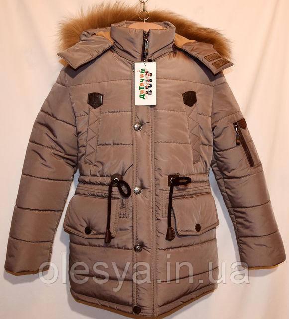 Куртка зимняя Полупальто Парка на мальчика подростка Размеры 140- 158