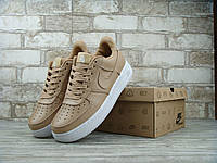 Женские кроссовки Nike Air Force Low Brown/White , фото 1