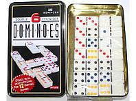 Домино в металлической коробке i5-40, домино настольная игра