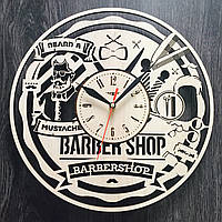 Часы настенные деревянные Мужская парикмахерская
