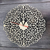 Настенные часы из дерева Винтажный орнамент