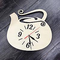 Настенные часы из дерева Чайник