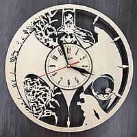Часы настенные из дерева Batman style, фото 1