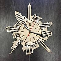 Дизайнерские часы на стену Силуэты Нью-Йорка