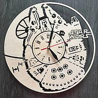 Настенные часы из дерева Тысячелетний Сокол, фото 1