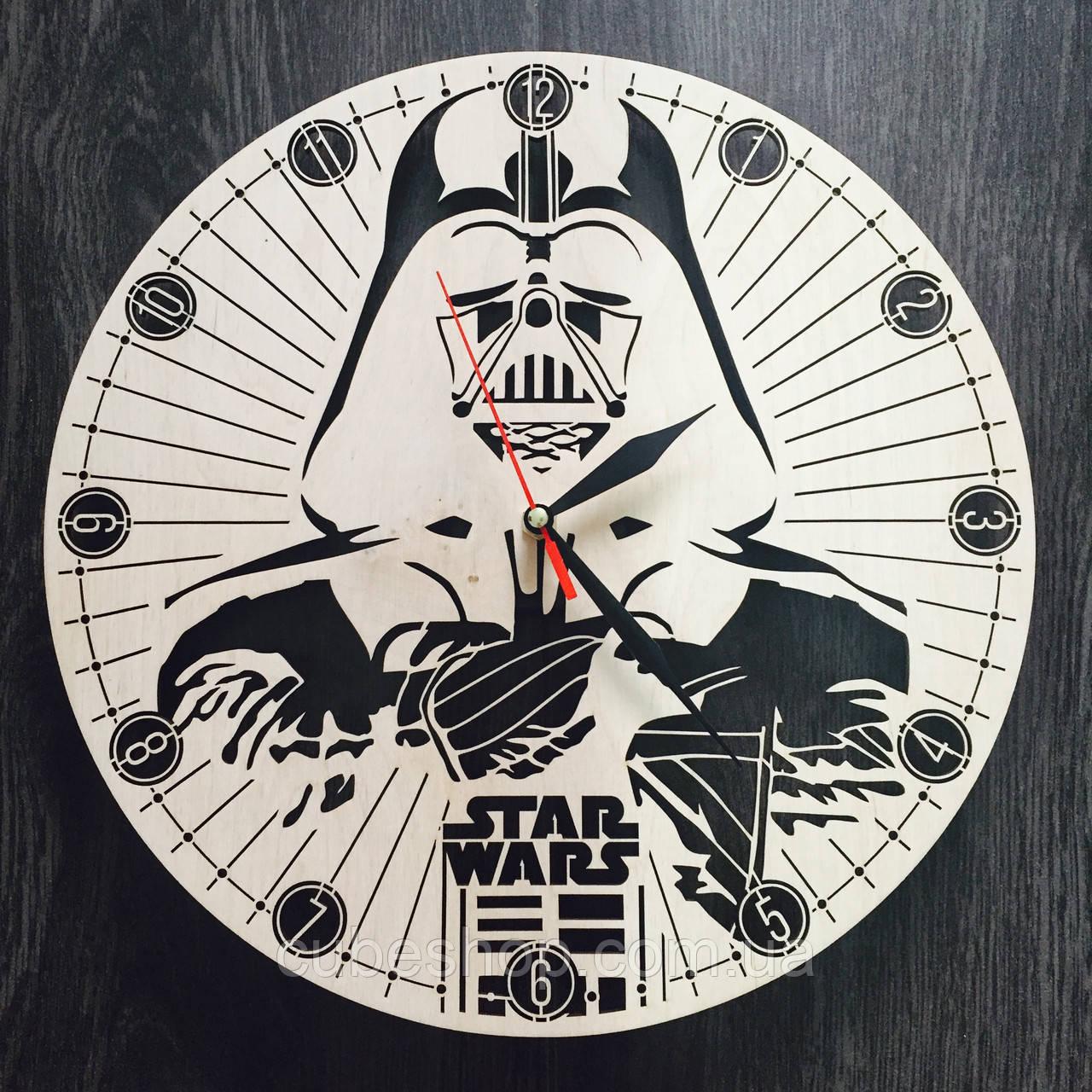 Настенные часы из дерева Звездные войны