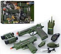 Игровой набор Военного 33890 (оружие, бинокль, рация, часы)