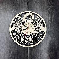 Деревянные настенные часы AC/DC, фото 1