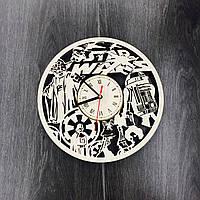 Часы настенные из березы Планета Звездных Войн