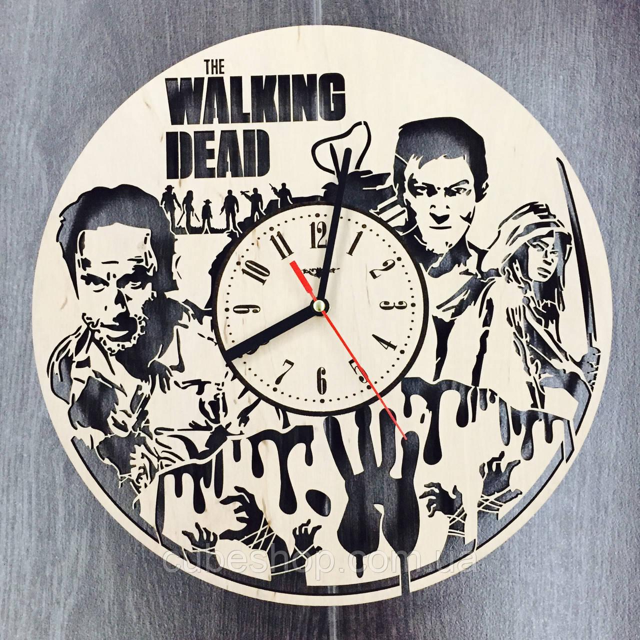 Оригинальные настенные часы Ходячие мертвецы