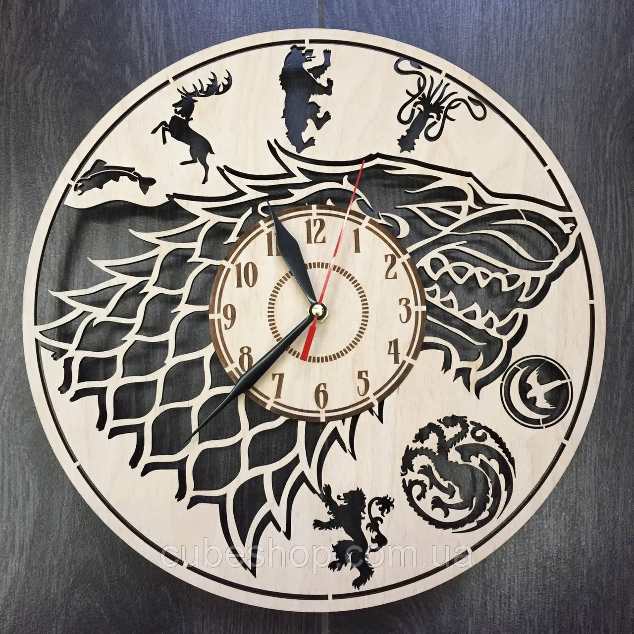 Дизайнерские настенные часы Game of Thrones