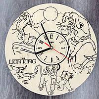 Детские настенные часы из дерева Король Лев