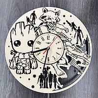 Деревянные настенные часы Стражи Галактики, фото 1