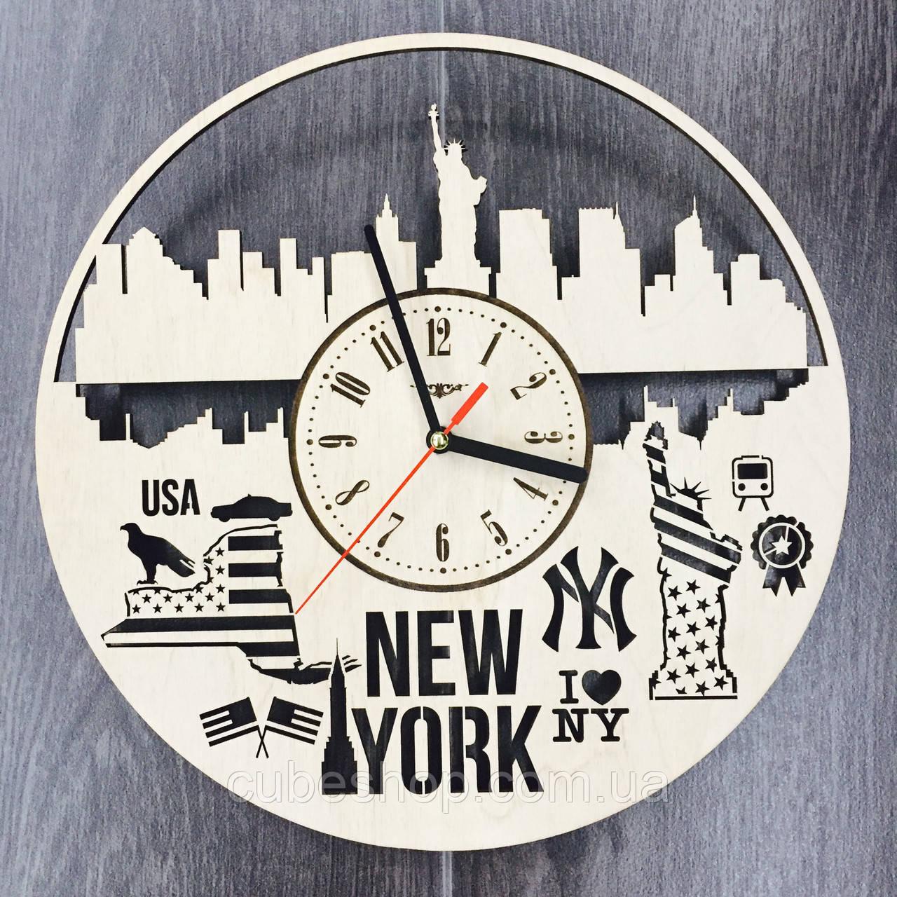 Дизайнерские часы на стену Нью-Йорк