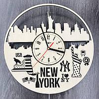 Дизайнерские часы на стену Нью-Йорк, фото 1