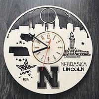 Дизайнерские часы на стену Линкольн, Небраска