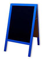 Штендер меловый синий двухсторонний 100х60 см. , фото 2
