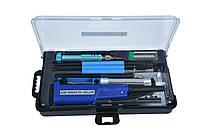 Паяльный набор ZD-972E с паяльником на батарейках (7 инструментов в кейсе)