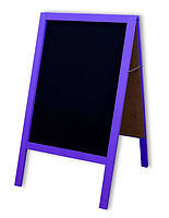 Штендер меловый фиолетовый двухсторонний 100х60 см. , фото 2