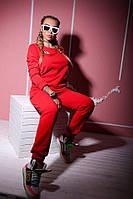 Женский спортивный костюм на флисе из трехнитки q-18SP51