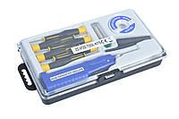 Паяльный набор ZD-972D с паяльником на батарейках (8 инструментов в кейсе)