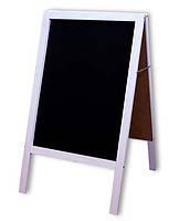 Штендер меловый белый двухсторонний 100х60 см. , фото 2