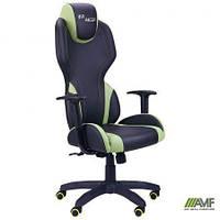 Подростковое кресло VR Racer с подлокотниками (механизм качания AnyFix, макс. вес до 120 кг) ТМ AMF Черно-зеленый 515410
