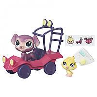 Городской транспорт - красная машинка, Littlest Pet Shop, Hasbro