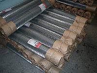 ОЦИНКОВАННАЯ цельно-металлическая просечно-вытяжная сетка 40/0,5; ширина:1м; длина:30м
