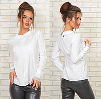 Блузка с кружевом. Белая, 2 цвета. Р-ры: 42, 44, 46, 48.