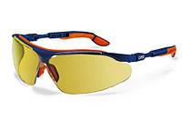 Очки UVEX I-vo, цвет синий/оранжевый, коричневая оправа