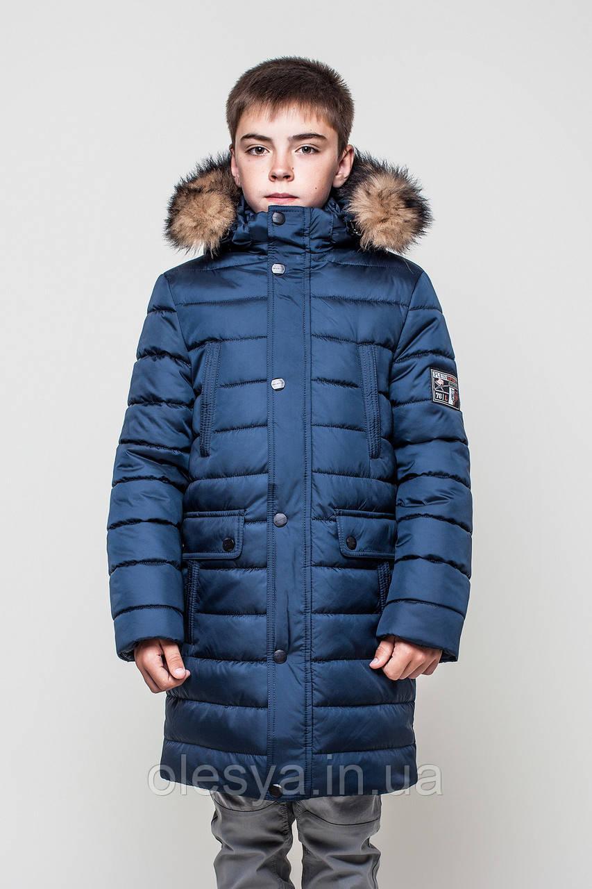 Зимнее пальто куртка удлиненная на мальчика Влад Размер 134  продажа ... e6060a0101662
