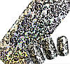 Фольга черная для ногтей голография черный узор 20 см