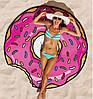 Пляжный коврик Пончик розовый (Donut) 143 см