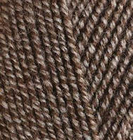 Пряжа Лана голд Lanagold Alize, № 904, св. коричневый меланж