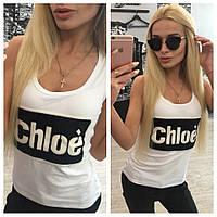 """Модная легкая женская майка """"Chloe"""" 42-60р РАЗНЫЕ ЦВЕТА!"""